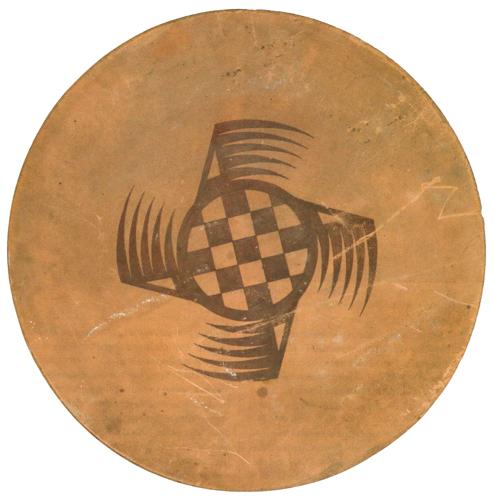 Awa Tsireh (San Ildefonso, 1898-1995) abstract design tile, 20.5
