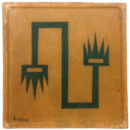 Awa Tsireh (San Ildefonso, 1898-1995) abstract design tile, 5