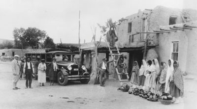 Indian Detour Bus, Santa Clara Pueblo, c. 1926