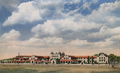 Postcard of the Alvarado Hotel, Albuquerque, NM, c. 1920