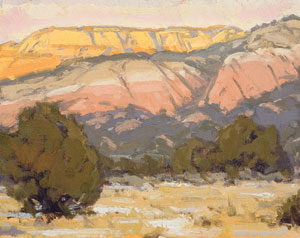 Bill Gallen, Kaibab WInter Afternoon, Oil on Mounted Linen, 11
