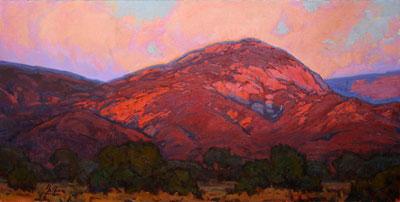 Bill Gallen, Evening Light on the Sangre de Cristos, Oil on Linen, 24