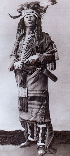 Historic Photo of Charles M. Russell in a traditional headdress