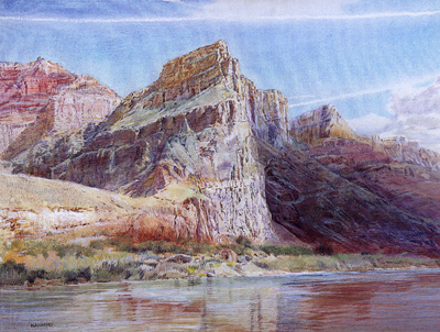 Merrill Mahaffey, Changing Light, Acrylic on Canvas, 36 x 49