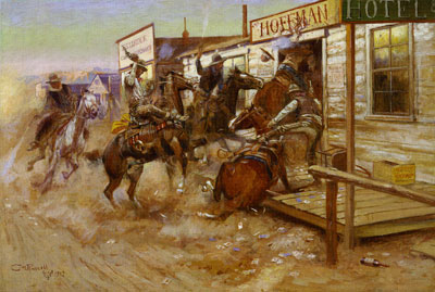 Charles Marion Russell, In Without Knocking, 1909, Oil on Canvas, Amon Carter Museum, Fort Worth, TX