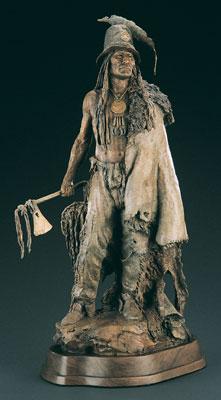 John Coleman, Addih-Hiddisch, Hidatsa Chief, Monumental Bronze Edition of 9, 87