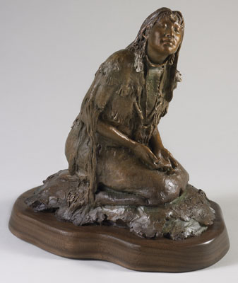 "John Coleman, The Blessing, Bronze Edition of 50, 7"" x 12"" x 11"""
