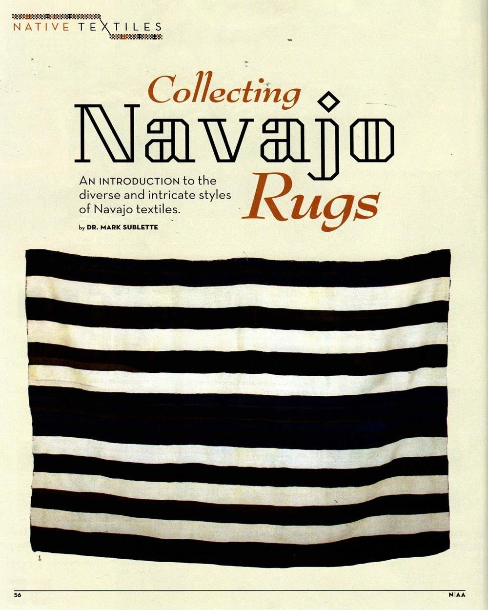 Collecting Navajo Rugs, Native American Art, April 2017