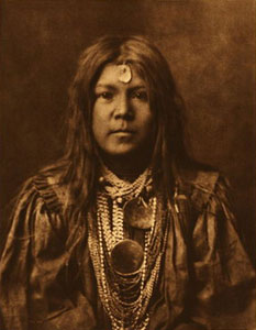 "Edward Sheriff Curtis, Apache Nalin, Framed Photogavure, circa 1903, 17.5"" x 13.5"""