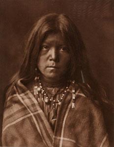 "Edward Sheriff Curtis, Chideh - Apache, Framed Photogravure, circa 1903, 13.5"" x 17.5"""
