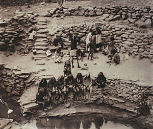 "Edward Sheriff Curtis, Flute Dancers at Tureva Spring, Photogravure, 18"" x 22"""