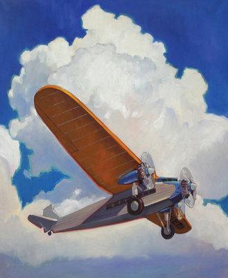 Dennis Ziemienski, Under the Clouds, Oil on linen, 36 x 30 inches