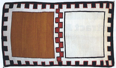 "Navajo Double Saddle Blanket, c. 1900-1910, 35"" x 55"""