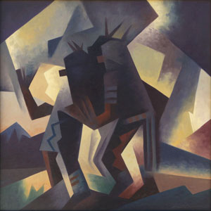 """Ed Mell, Time and Spirit, Oil on Canvas, 24"""" x 24"""""""