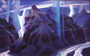 """Ed Mell, Primal Storm Study, Oil on Canvas, 22"""" x 36"""""""
