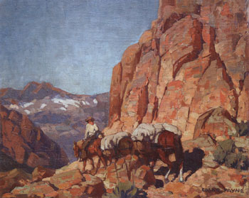 "Edgar Alwin Payne (1883-1947), Over the Hump, undated, oil on board, 28"" x 34"""