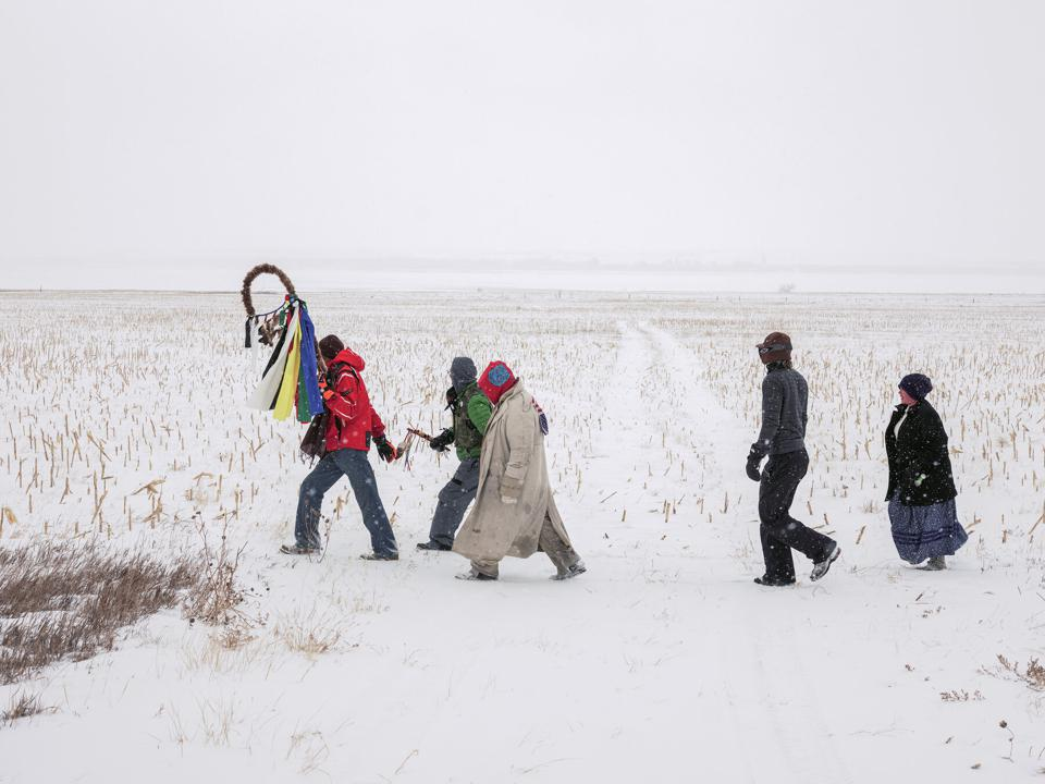 Mitch Epstein (b. 1952), 'Standing Rock Prayer Walk, North Dakota 2018.' Dye coupler print Print: ... [+] (C) BLACK RIVER PRODUCTIONS, LTD. / MITCH EPSTEIN. COURTESY OF SIKKEMA JENKINS & CO. NEW YORK.