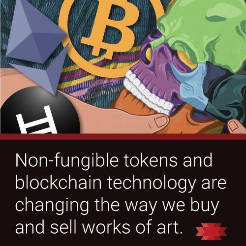 Read the Essential West article on NFTs and how blockchain technology will change the way we buy and sell art.