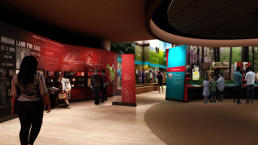 First Americans Museum Interior Visualization