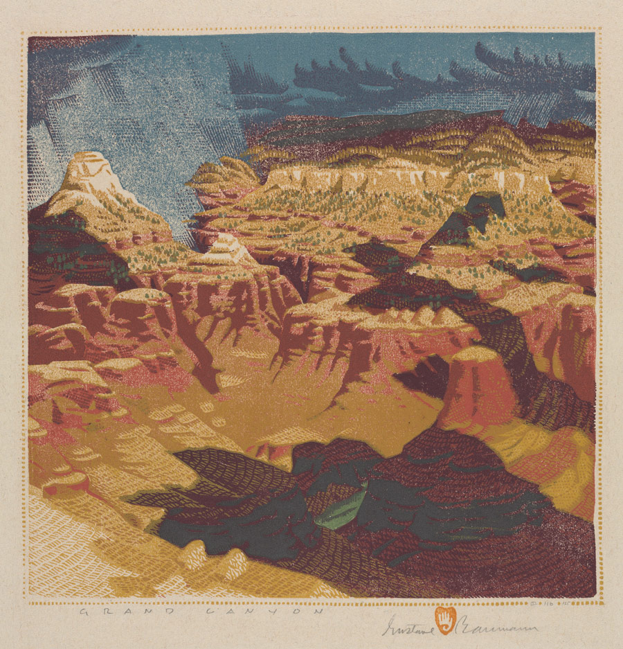 Grand Canyon, 1934 - Gustave Baumann (1881–1971) Color woodcut; image: 32.3 x 32.5 cm