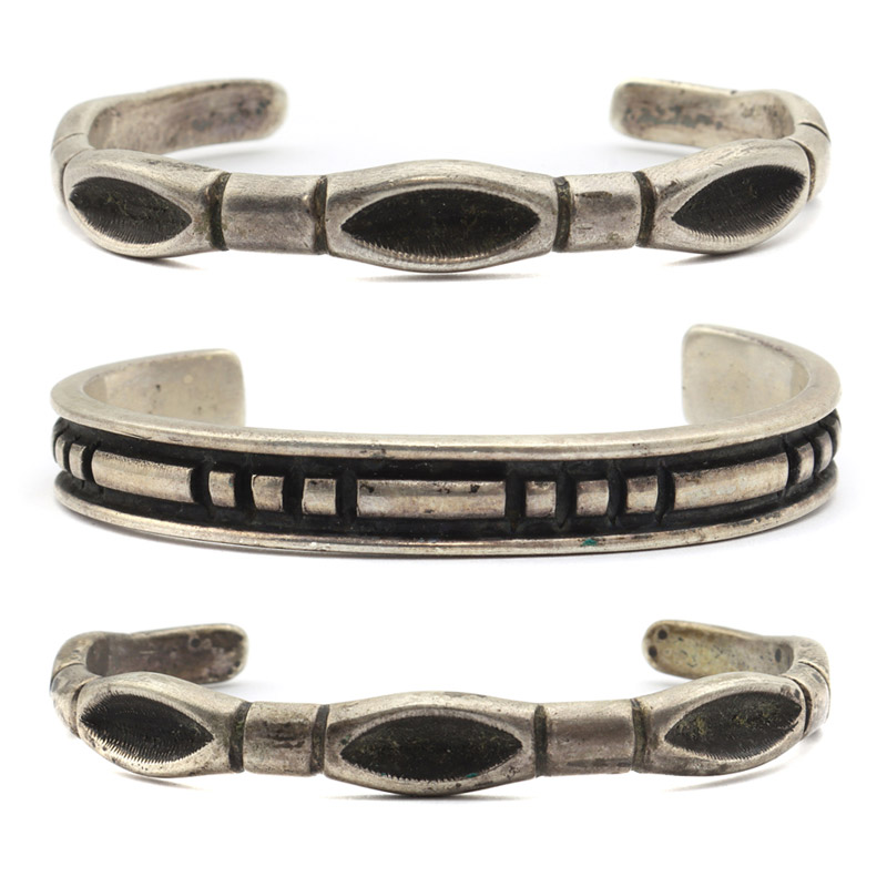Silver bracelets by Kenneth Begay, c. 1960s