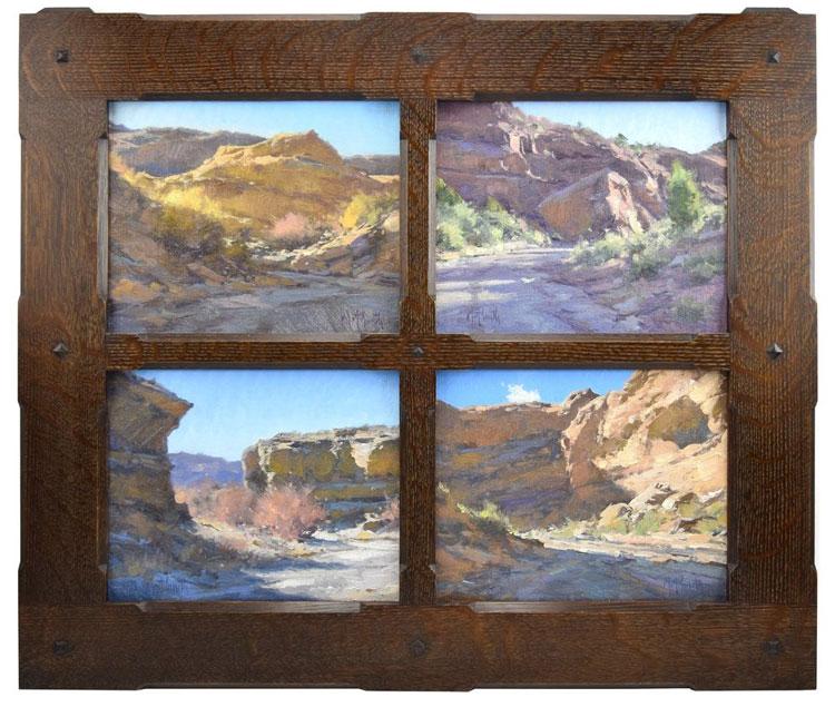 Matt Smith - Canyons of Utah, Quadriptych