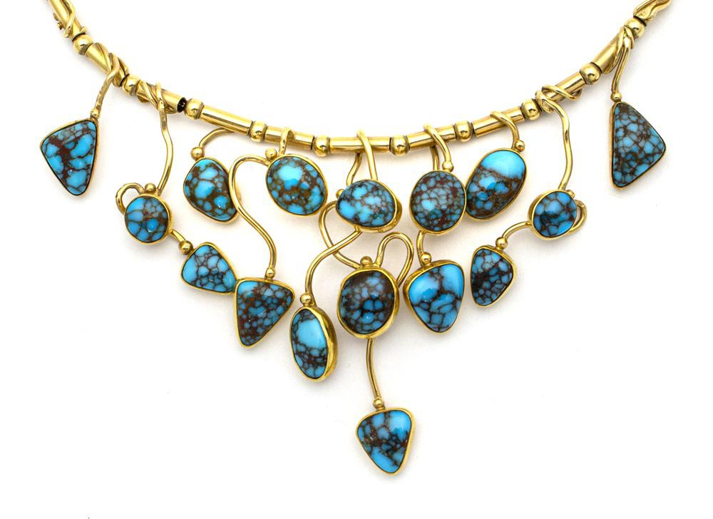Sam Patania - Couture Candelaria Turquoise and 18k Gold Necklace