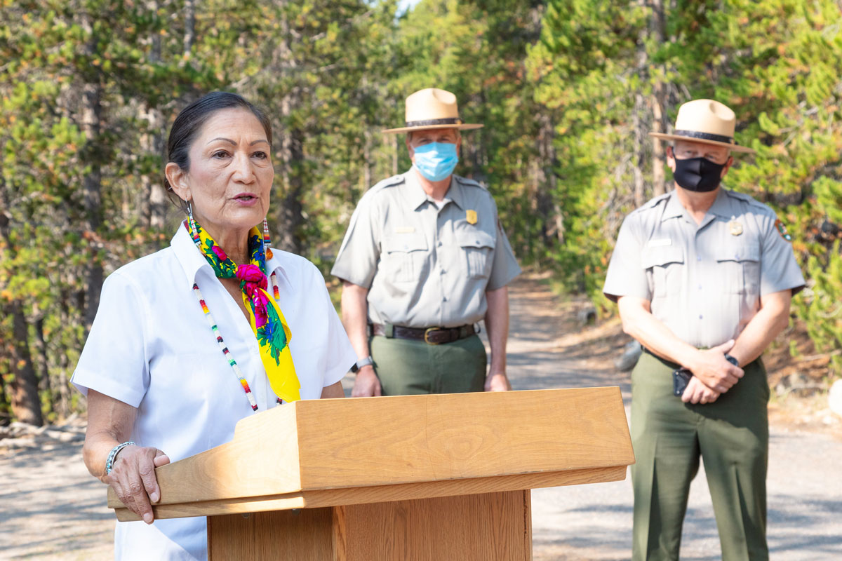 DOI Secretary Deb Haaland Visit to Yellowstone