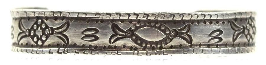 Navajo Ingot Silver Bracelet c. 1900s, Size 5.75