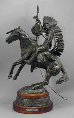 "Fred Fellows, The War Horse, Bronze Edition of 50, 33"" x 12"" x 19"""