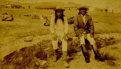 "A. F. Randall, Natches and Geronimo, c. 1886, 4.25"" x 7.25"""