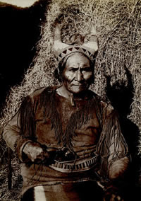 "George A. Addison, Geronimo of Yesterday, Fort Sill, Oklahoma, c. 1890, 6.5"" x 4.25"""