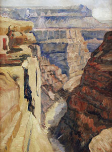 "Albert L. Groll, A View of the Grand Canyon, Oil on Board, 24"" x 18"""