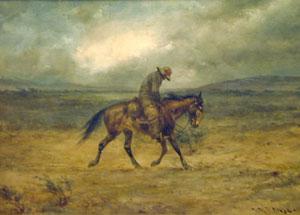 "Herman Wendelborg Hansen, Bitter Cold, Watercolor, 12"" x 19"""
