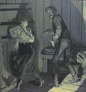 """Harold von Schmidt, Oil Illustration, 30"""" x 32"""""""
