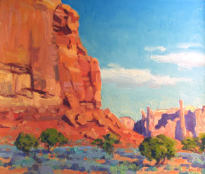 Gregory Hull, Monument Valley Floor, Oil on Canvas, 20