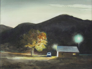 "Peter Hurd, Dusk Near Hondo, Watercolor, 10.5"" x 14.5"""