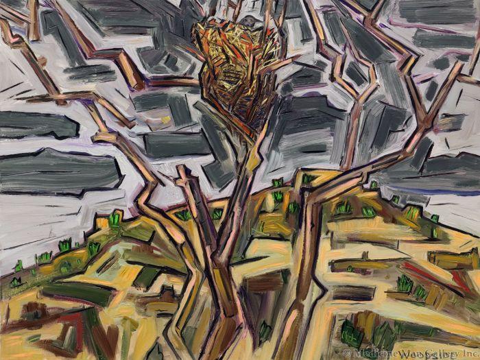 James Woodside - Desert Nest, Oil on Canvas, 30 x 40