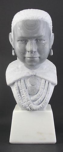 "Oreland Joe , Navajo Girl, Italian Marble, 11.75"" x 6.5"" x 7.5"""