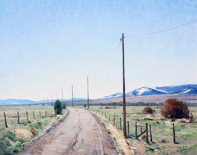 "Josh Elliott, Montana Spring, Oil on Panel, 24"" x 30"""