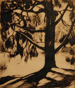 "Gene Kloss, Morning Sunlight, Etching, 6"" x 5"""