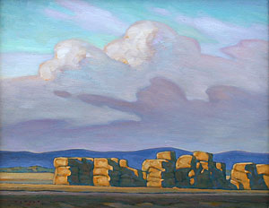 Howard Post, Last Year's Hay, Oil on Canvas, 16