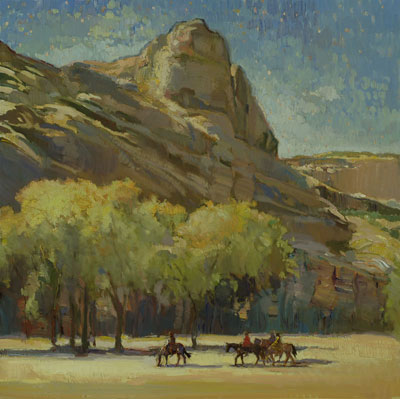 """Francis Livingston, Canyon Journey (Canyon de Chelly), Oil on Panel, 30"""" x 30"""""""