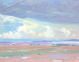"Mary-Russell Ferrell Colton, Painted Desert, Oil on Canvas, c. 1920, 16"" x 20"""