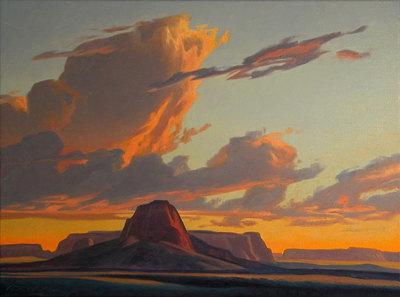 Ed Mell, Chinle Butte , Oil on Linen, 30