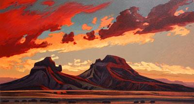 Ed Mell, Volcanic Desert, Lithograph, 27