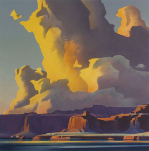 Ed Mell, Towering Clouds, Lake Powell, Lithograph, 25.5