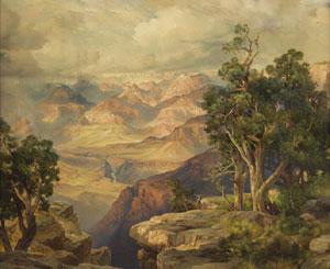 "Thomas Moran, Grand Canyon, Chromolithograph, 1912, 29"" x 34"""