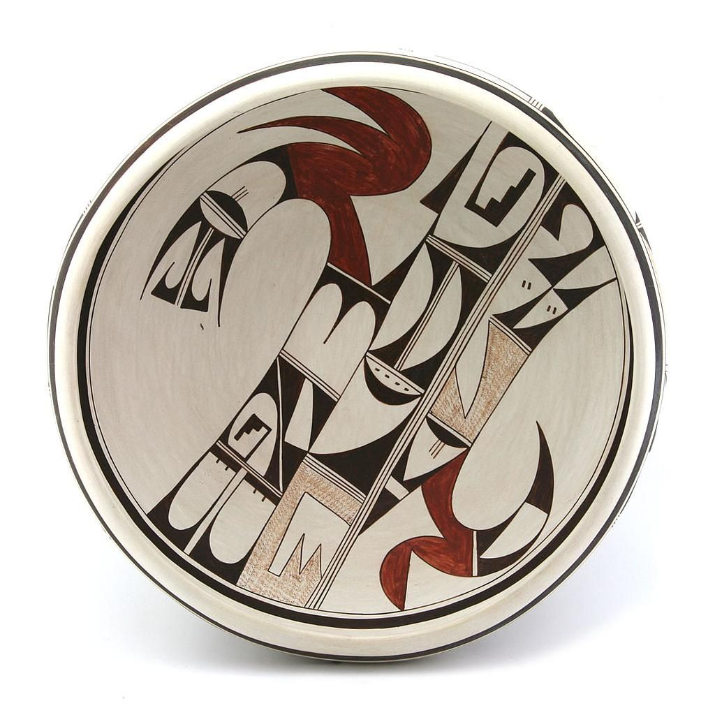 Joy Navasie, Hopi Polychrome Flat Bowl