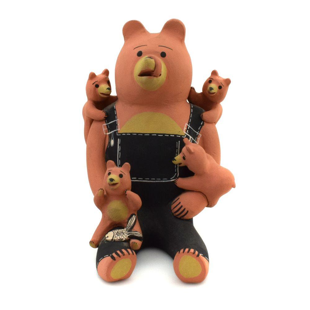 Dorothy Herrera - Cochiti Storyteller Bear Figurine c. 1980s